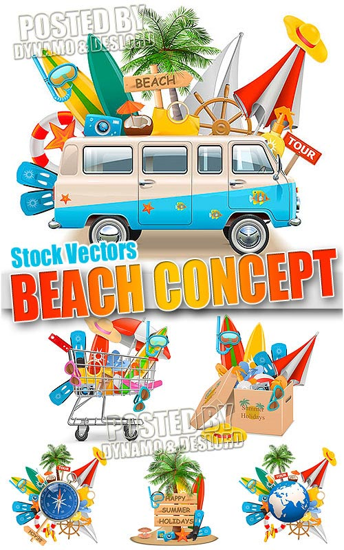 Beach Concept - Stock Vectors