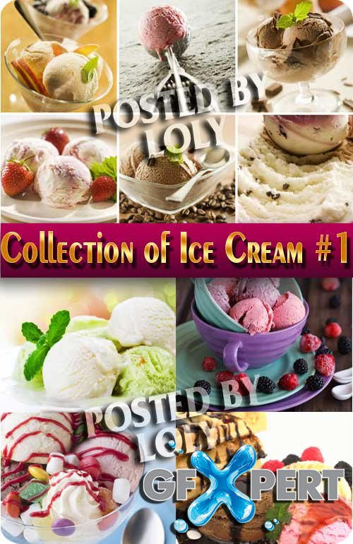 Food. Mega Collection. Ice Cream #1 - Stock Photo