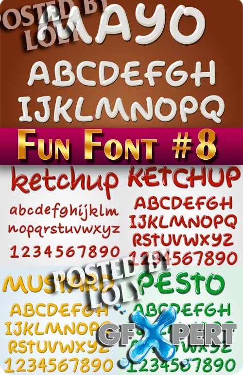 Fun Font #8 - Stock Vector