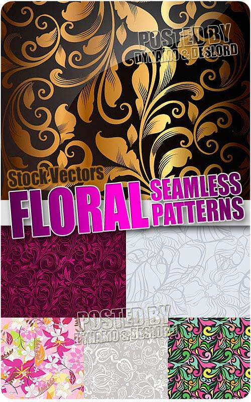 Floral seamless patterns - Stock Vectors