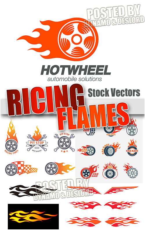 Racing Flames - Stock Vectors