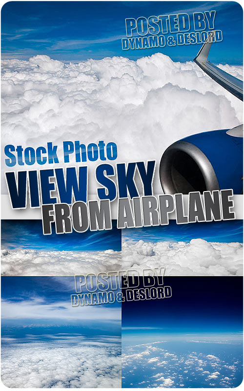 View sky from airplane - UHQ Stock Photo