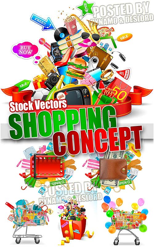 Shopping Concept - Stock Vectors