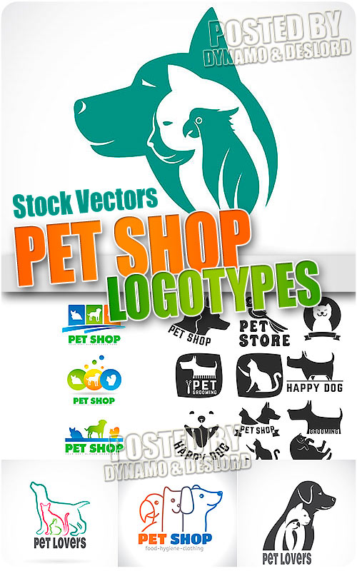 Pet shop logo - Stock Vectors
