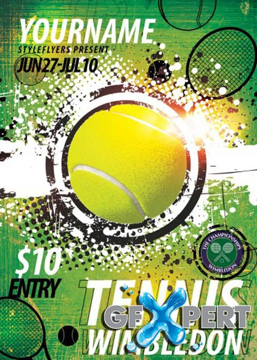 tennis flyers templates free