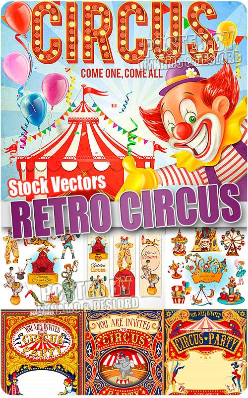Retro Circus - Stock Vectors