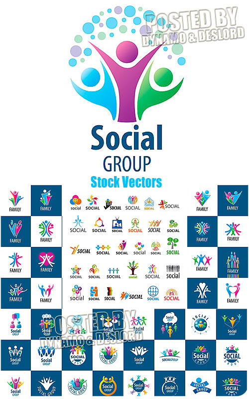 Social Group logo - Stock Vectors