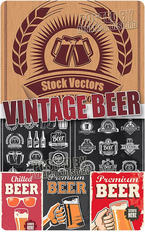 Vintage beer designs - Stock Vectors