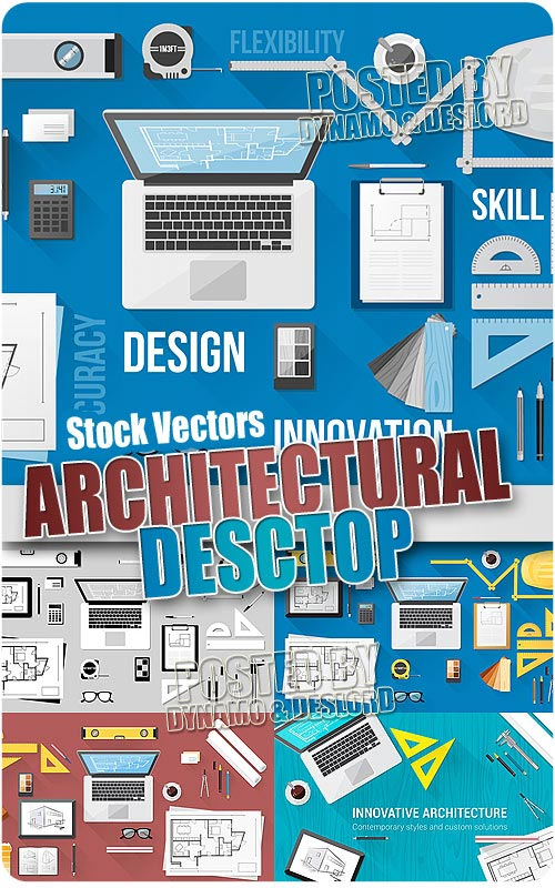 Architectural desktop - Stock Vectors