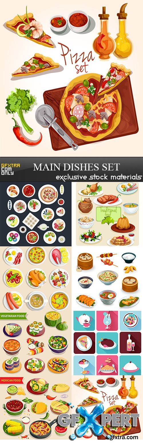 Main Dishes Set, 8 x EPS