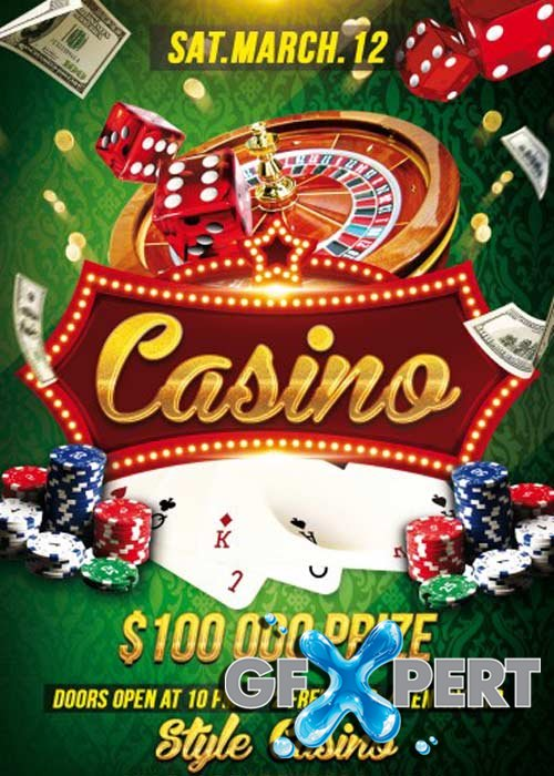 casino flyer template free
