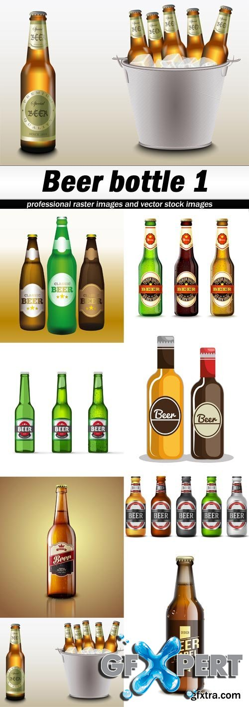 Beer bottle 1-8xEPS