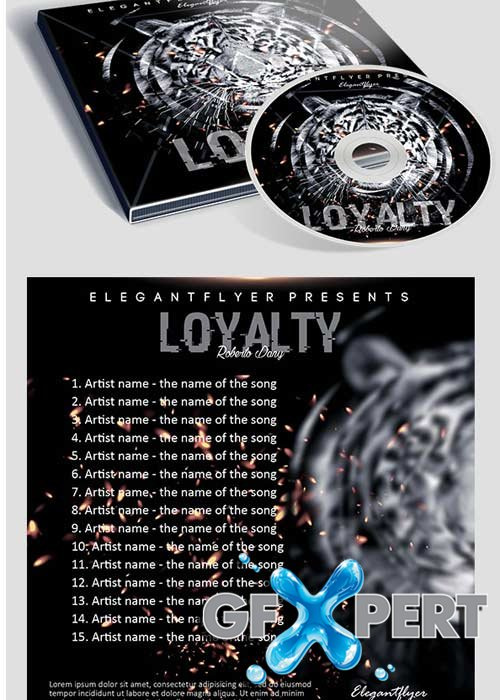 Loyalty Mixtape CD Cover PSD Template