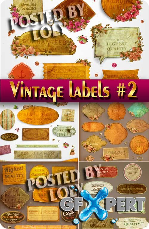 Vintage labels #2 - Stock Vector