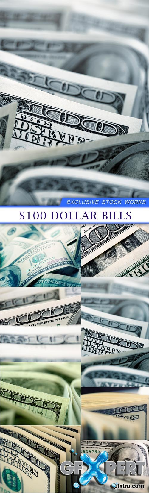 $100 dollar bills 8X JPEG