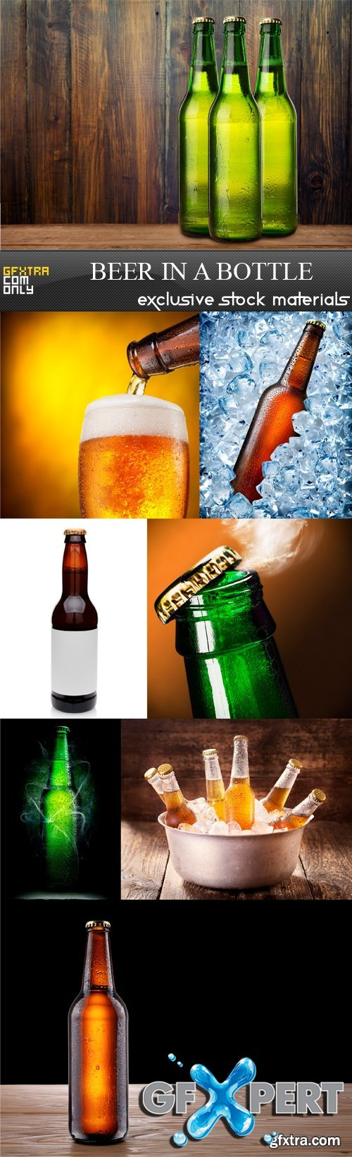 Beer in a bottle - 8 UHQ JPEG