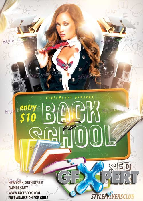 Back To School V12 PSD Flyer Template