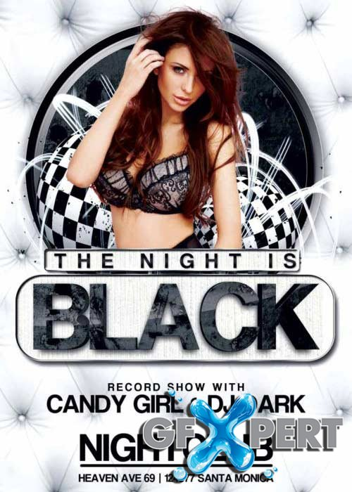 Black Night Club Party V12 Flyer Template