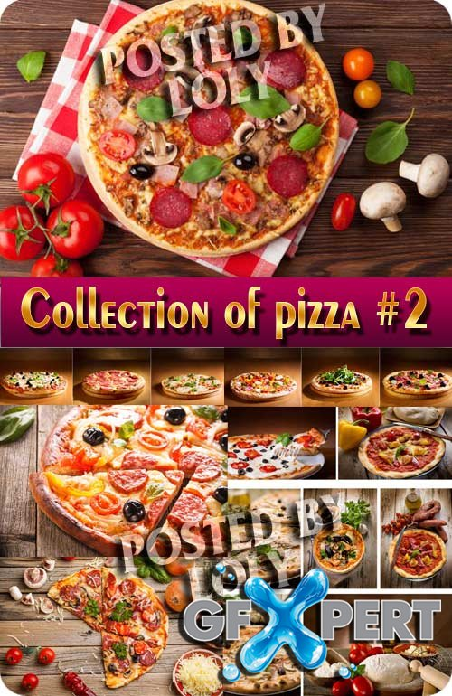 Food. Mega Collection. Pizza #2 - Stock Photo