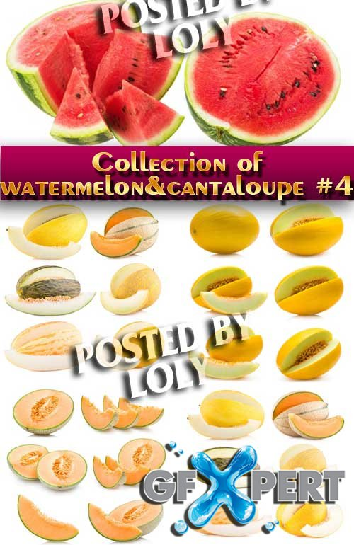 Food. Mega Collection. Watermelon and cantaloupe #4 - Stock Photo