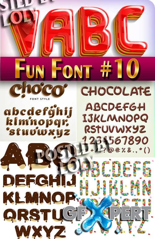 Fun Font #10 - Stock Vector