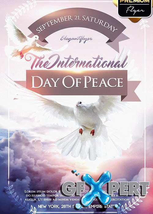 The International Day Of Peace V1 Flyer PSD Template + Facebook Cover