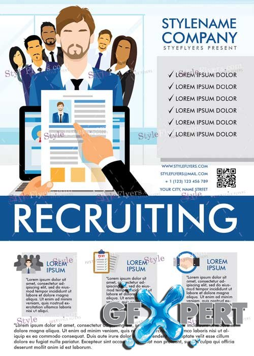 Free Recruiting V5 PSD Flyer Template download