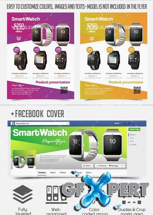 free product presentation v flyer psd template  facebook cover, Templates