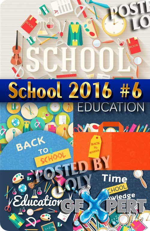 Back to School 2016 #6 - Stock Vector
