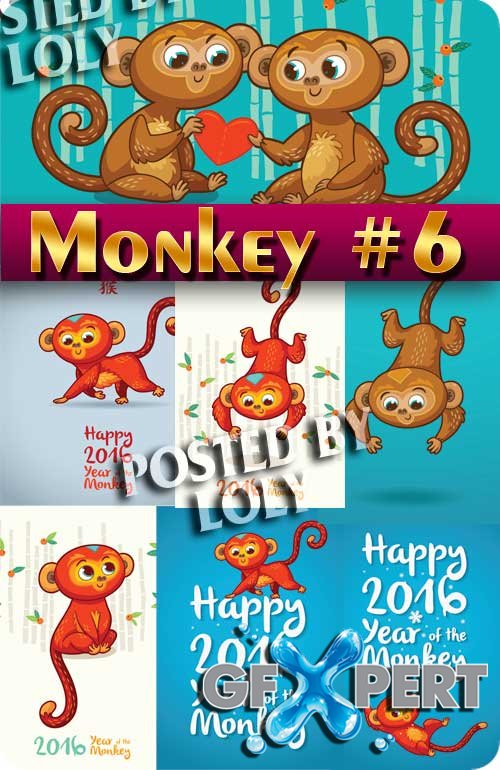 Monkey #6 - Stock Vectors