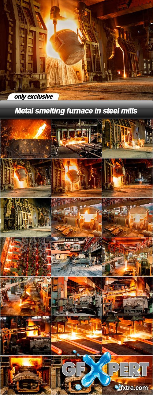 Metal smelting furnace in steel mills - 21 UHQ JPEG