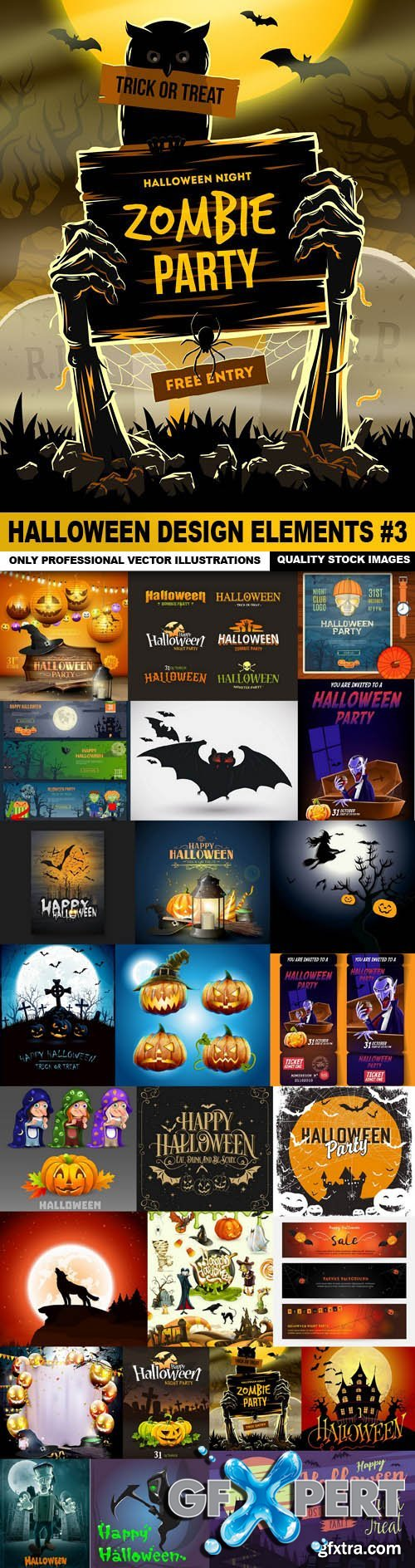 Halloween Design Elements #3 - 25 Vector