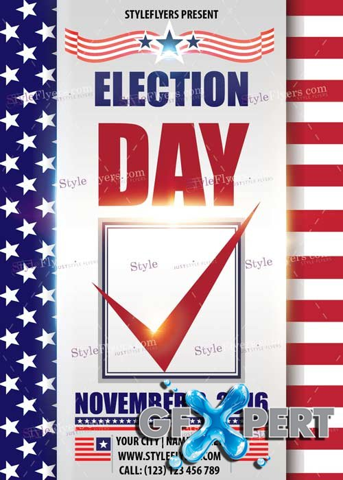 Election Day PSD V2 Flyer Template
