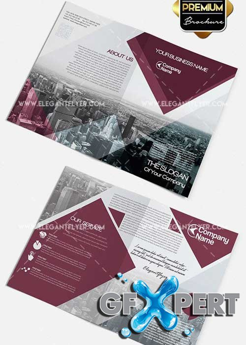 Business V2 Premium Bi-Fold PSD Brochure Template