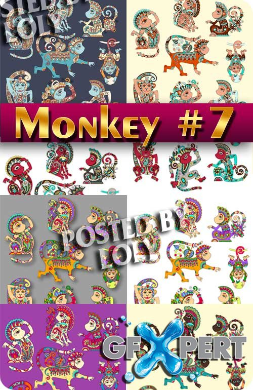 Monkey #7 - Stock Vectors