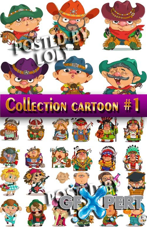 Collection of Cartoon #1 - Stock Vector