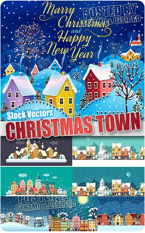 Christmas town - Stock Vectors