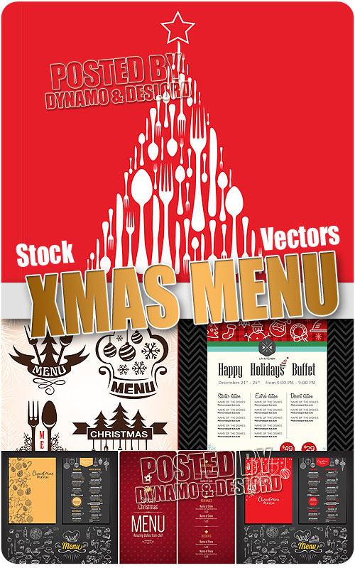 Xmas menu - Stock Vectors