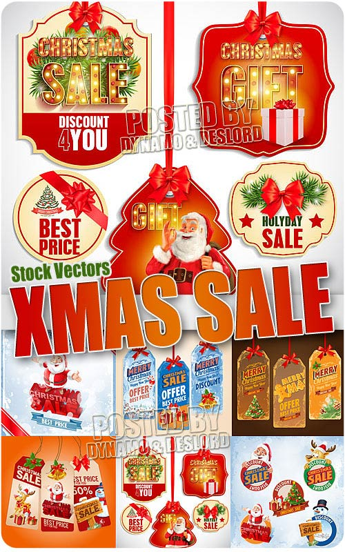 Christmas Sale - Stock Vectors