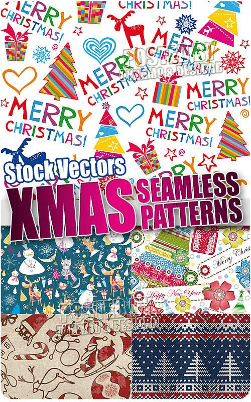 Xmas seamless pattern - Stock Vectors