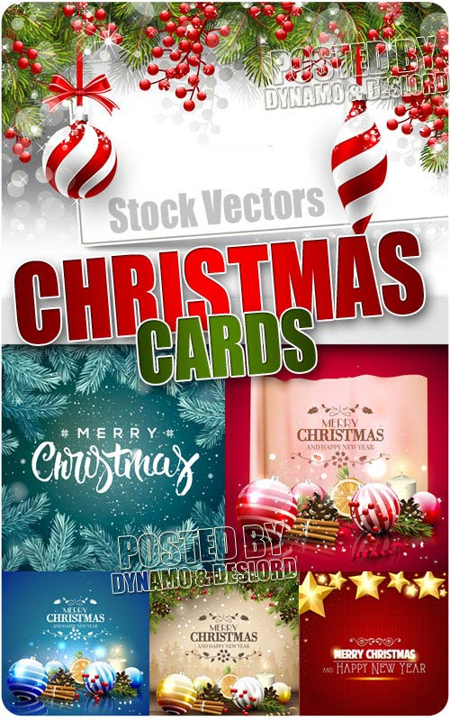 Christmas Cards 3 - Stock Vectors