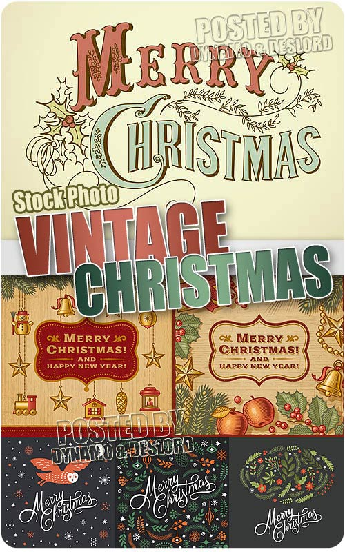 Vintage christmas - Stock Vectors
