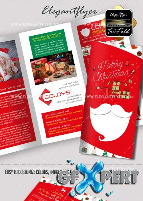 New Year Tri-Fold PSD V8 Brochure Template
