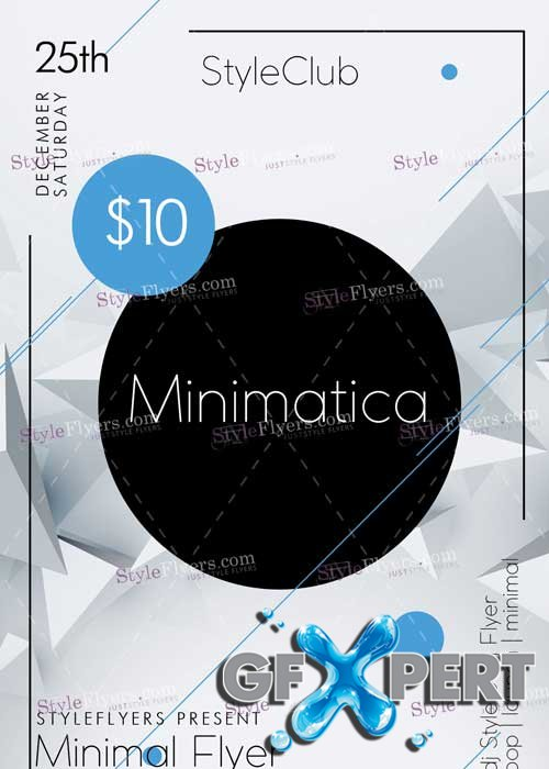 Minimatica Minimal Party V1 PSD Flyer Template