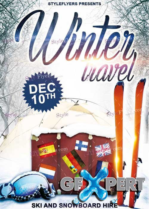 Winter Travel V5 PSD Flyer Template