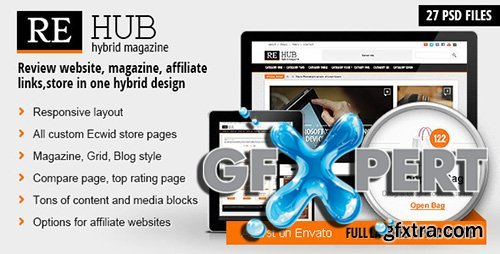 ThemeForest - REHub v1.0 - Hybrid Magazine Shop Review PSD Template - 5554364