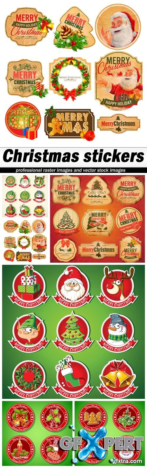 Christmas stickers - 6 EPS