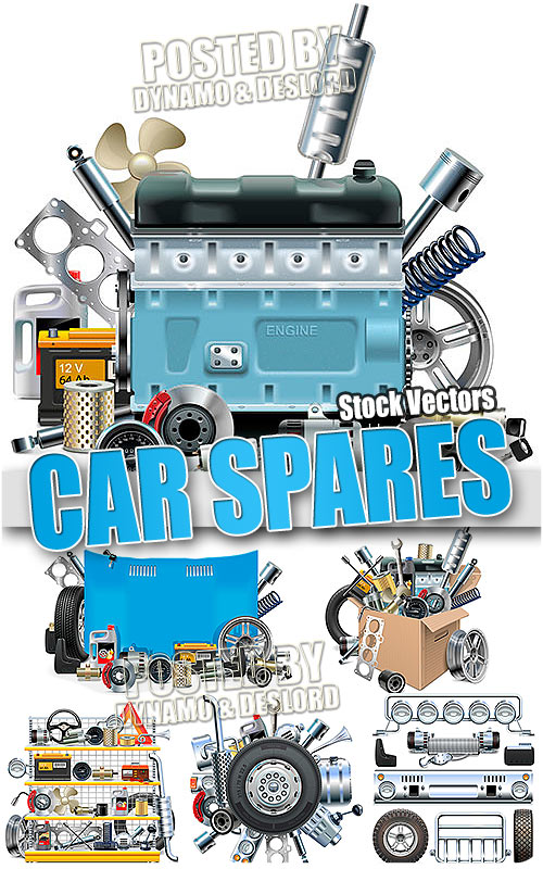 Car Spares - Stock Vectors