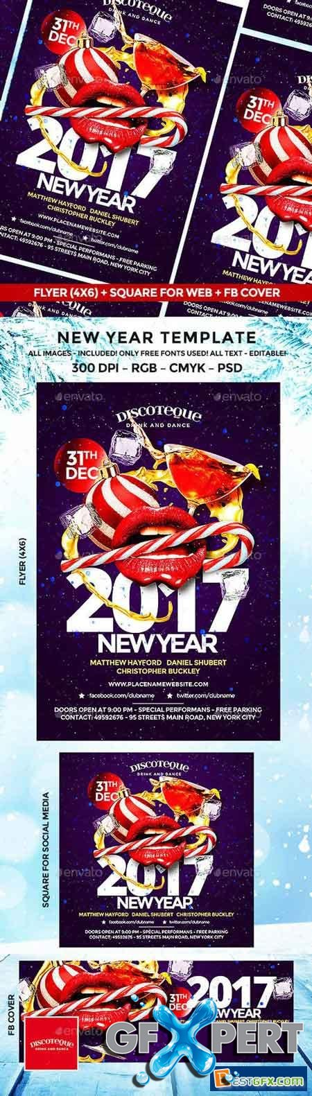New Year Party Flyer 18843675