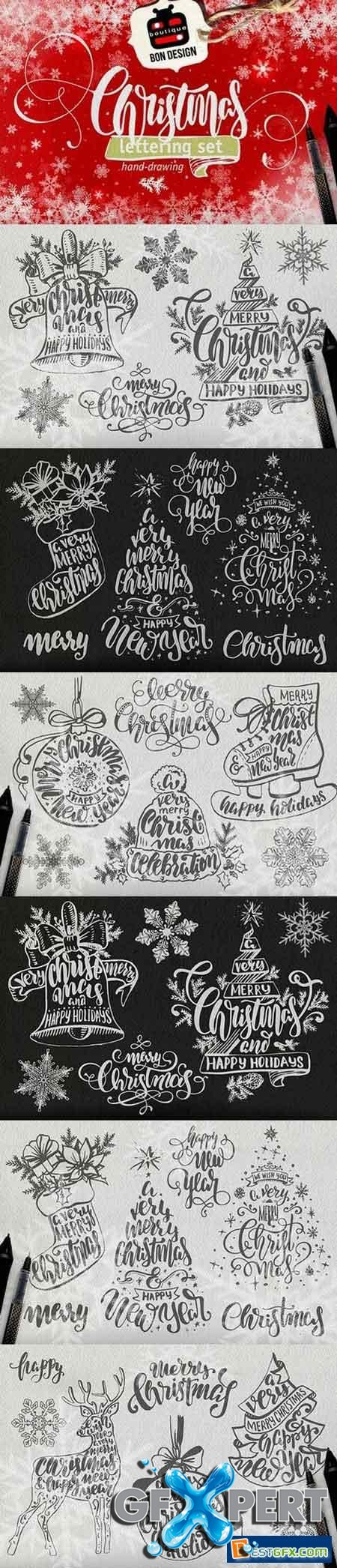 Creativemarket SET of xmas Lettering 1046977